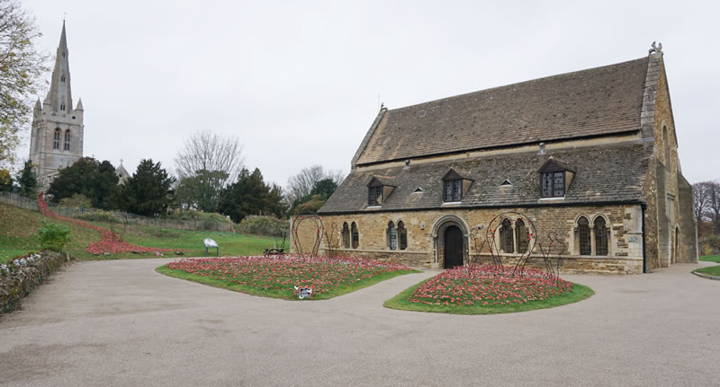 All Saints' Oakham and poppies